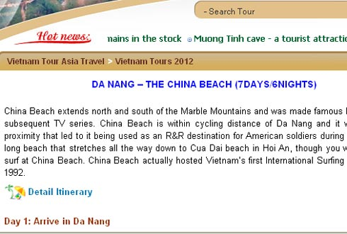 bien da nang bi goi la China Beach