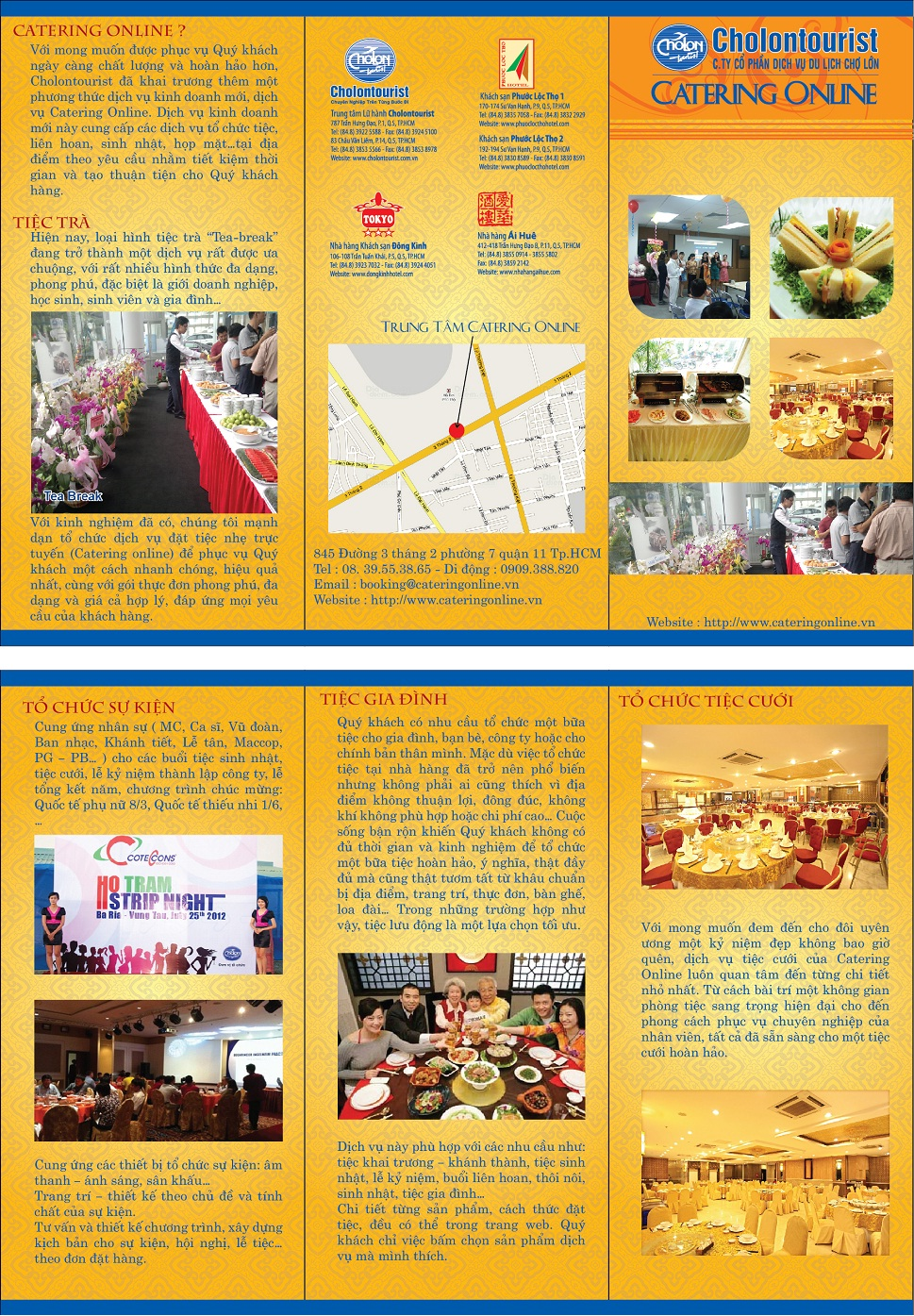 catering online, dich vu catering, tiec ngoai troi,mau brochure1 Giới thiệu