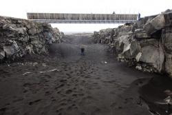 Sống núi giữa Đại Tây Dương ở Iceland
