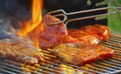 Bò tái kiến đốt món ngon Tam Đảo