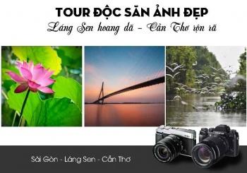 Tour săn ảnh đẹp Láng Sen hoang dã - Cần Thơ rộn rã