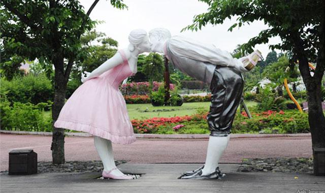 Công viên tình yêu ở đảo Jeju Hàn Quốc