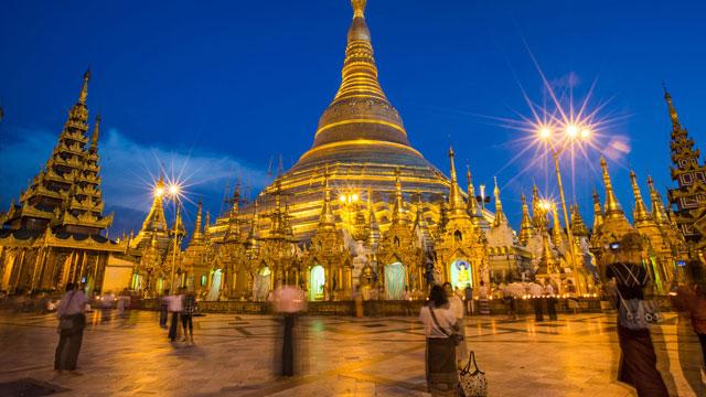 Chùa vàng Shwedagon pagoda Myanmar