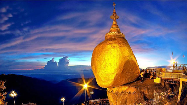 Chùa đá vàng Kyaikhtiyo Myanmar