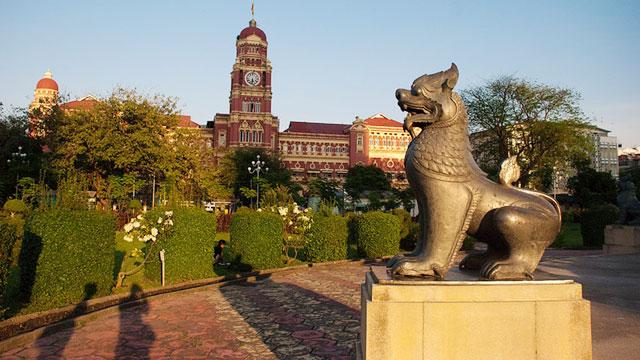 Công viên tại trung tâm thành phố Yangon Myanmar