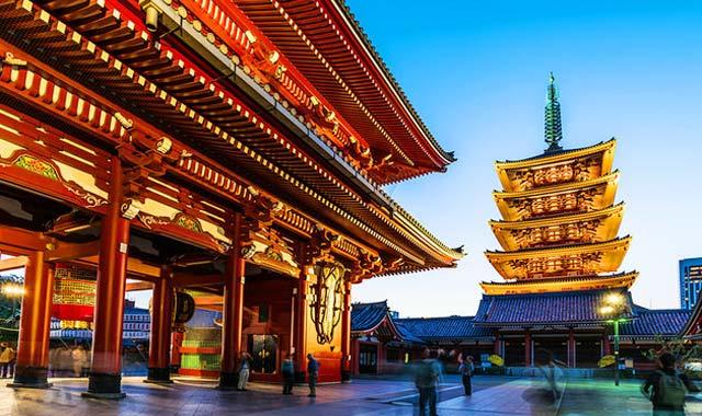Chùa Asakusa - Tour du lịch Nhật Bản 6N5Đ Cholontourist