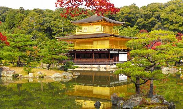 Chùa gác vàng Kim Cát Tự Kinkakuji Kyoto Nhật Bản