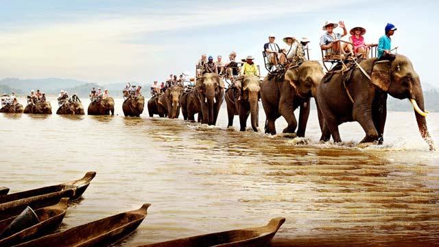 Cưỡi voi vượt sông Serepok
