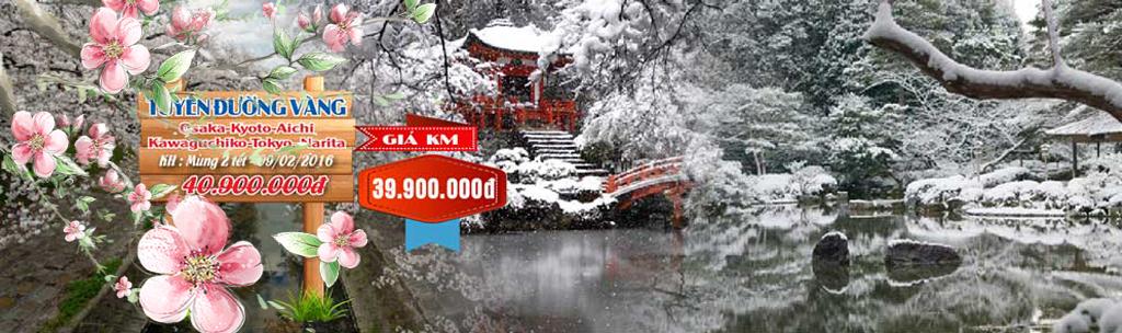 Tour du lịch Nhật Bản tết 2016